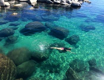 lake tahoe california swimming