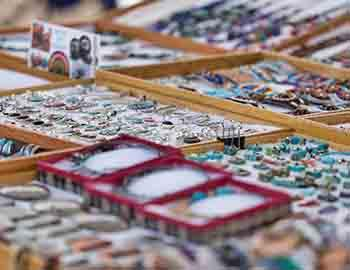 Jewelry vendor at an art festival in Lake Tahoe