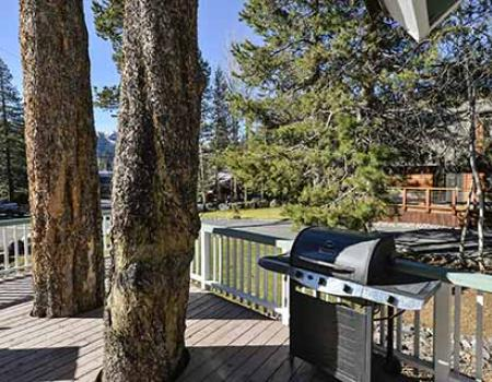 BBQ Grill at a Lake Tahoe vacation rental