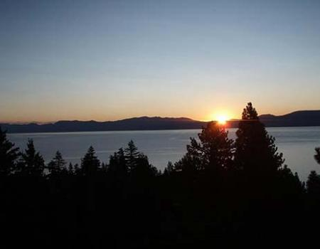 View of Tahoe Lake from a vacation rental