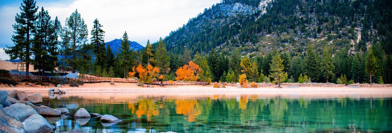 lake tahoe fall leaves changing