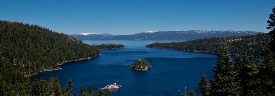 Emerald Bay in Lake Tahoe, CA