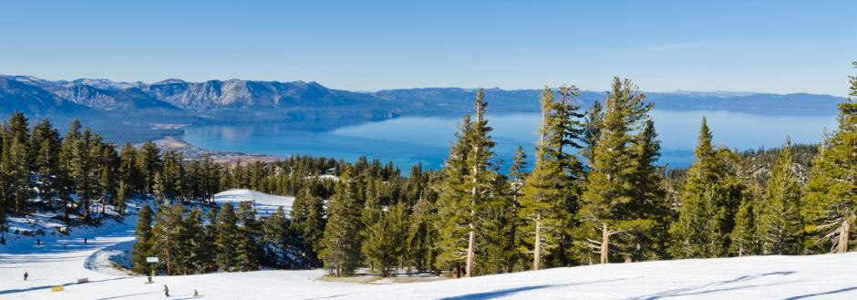 Lake Tahoe Ski Resort in Winter