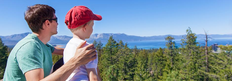Tahoe things to do with kids - Dad and Son