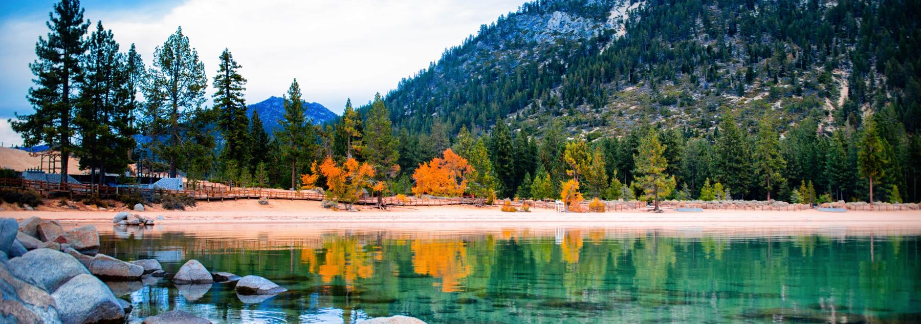 lake tahoe fall leaves changing
