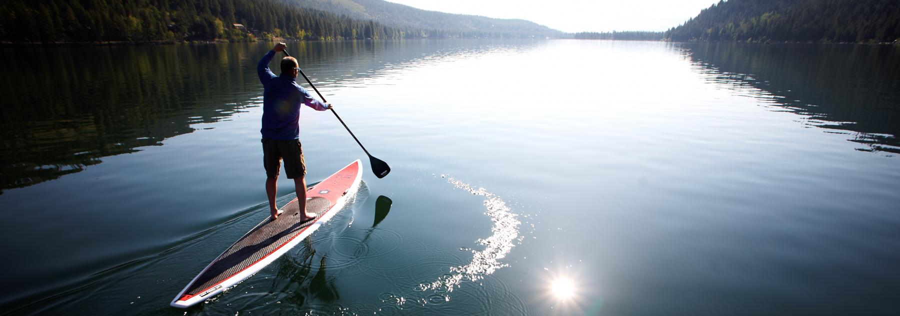paddleboard, Tahoe, Donner, summer