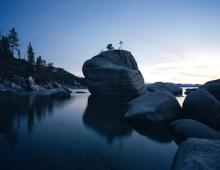 Boulders along Lake Tahoe shoreline